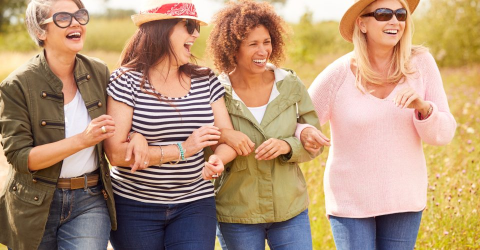 Group of women laughing and smiling
